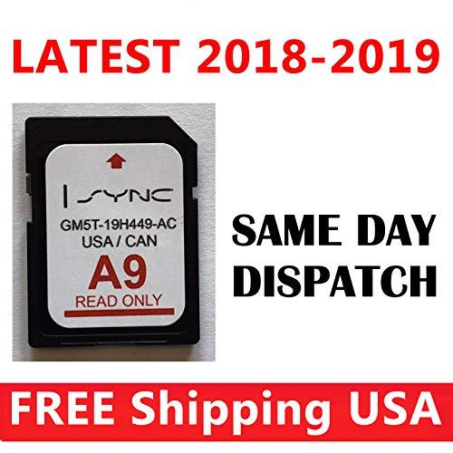 (Ford Lincoln Latest 2019 A9 SD Card MAPS USA Canada Navigation A9 NAV SYNC 2)