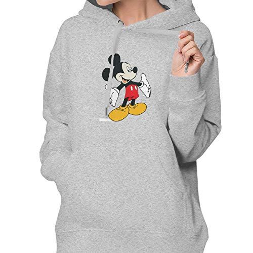 Sakanpo Cartoon Mickey Mouse Women's Hoodie Sweatshirt with Pocket M ()