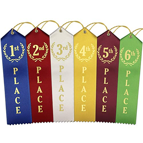 (1st - 6th Place Award Ribbons - 12 Each Place (72 Count Total))