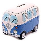 camper bank - D-Sun 1Piece Fancy Camper Money Box Ceramic Camper Van Coin Piggy Bank Gifts for Kid Money Saving Box Bus Car Moneybox Blue