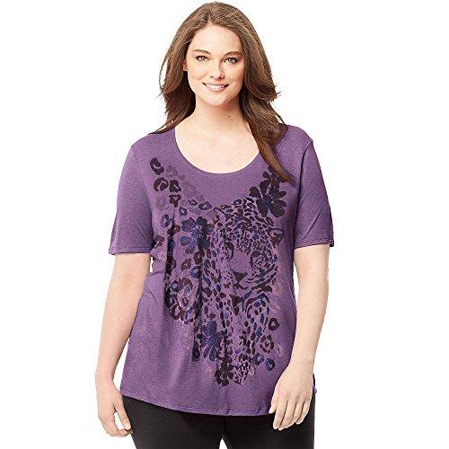 Just Donna Tourmaline shirt My corte Heather Maniche T Size 4xaOS4qA