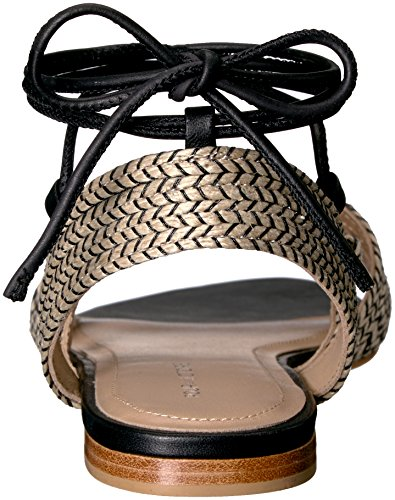 Sandal Pour Women's Natural Victoire Black Flat Lora La XX8BrH