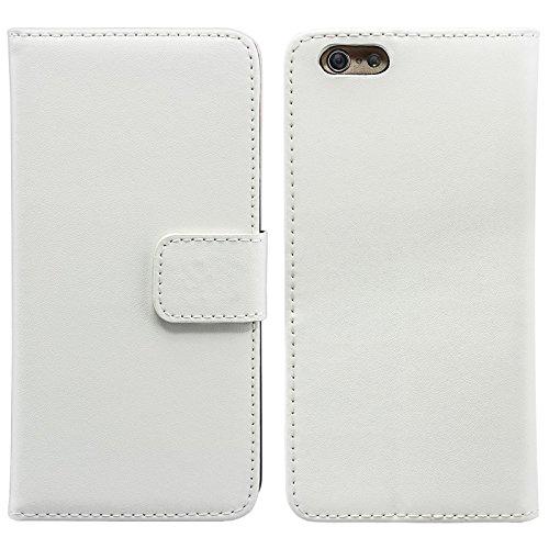 eFabrik Hülle Tasche für Apple iPhone 6 ( 4.7 Zoll ) Case Handy Schutz Flip Cover Schutzhülle Schutztasche Kunstleder weiß