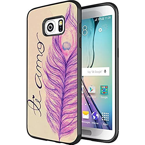 DOO UC(TM) Galaxy S7 Edge Case, Laser Technology for Protective Case for Samsung Galaxy S7 Edge Black Pencil purple Sales