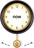 Now Clock: Meditation Aid - The Time is Now - Be Here Now - with Live Laugh Love moving pendulum