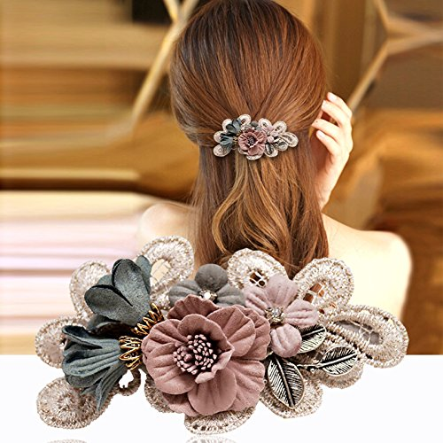usongs Winter hair accessories hairpin Europe and simple cloth top edge clip ponytail clip head ornaments hairpin chuck 041