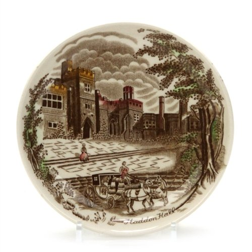 Haddon Hall by Johnson Brothers, China Coaster, Brown, Multicolor