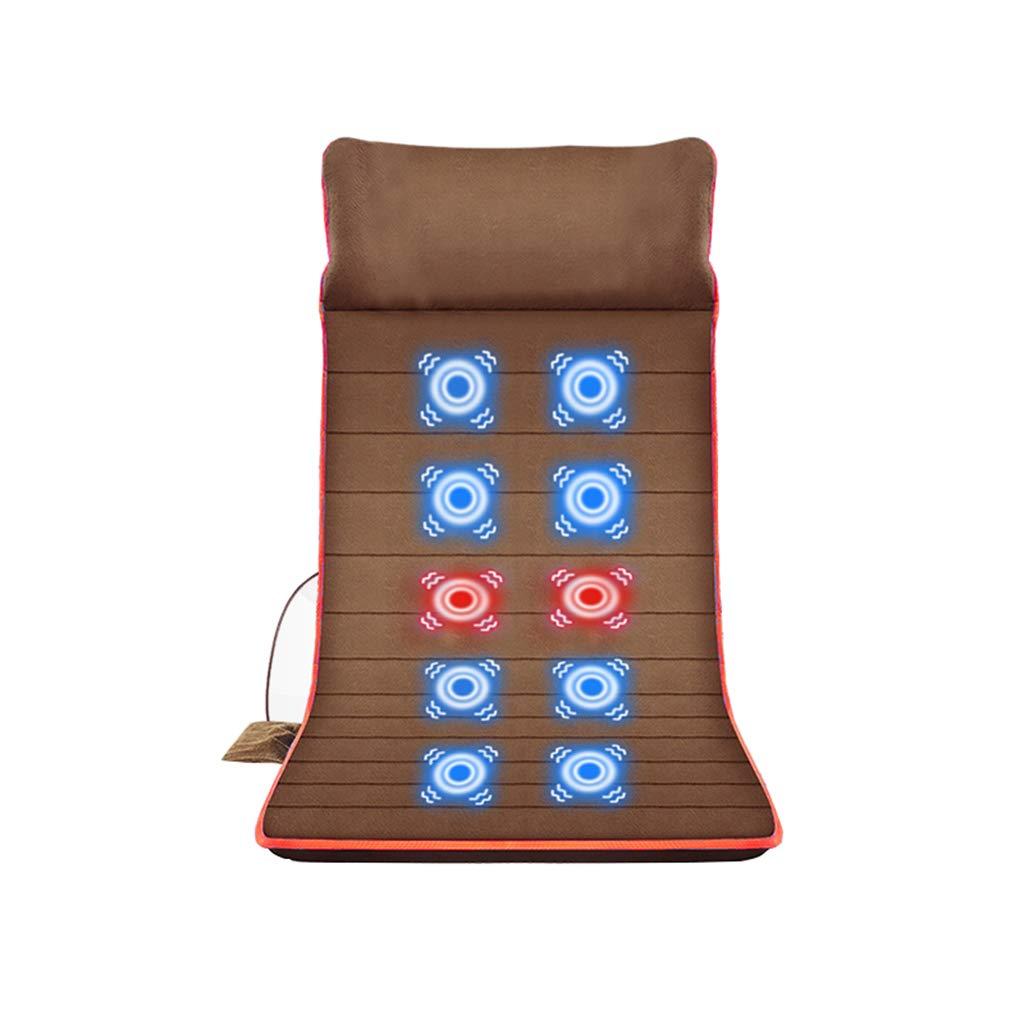 多機能ボディマッサージクッション、10ポイントマッサージ、折りたたみ式、ダークグレー/ブラウン、146X62cm B07SPBDLLL Brown