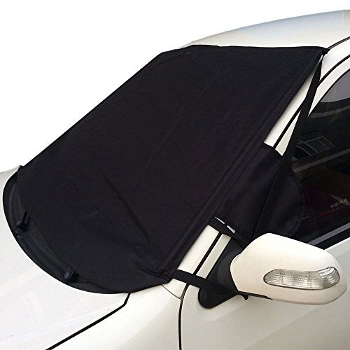 Aidoo Windshield Cover Foldable Auto Car Snow Cover Sun Shade Protector Fit for Most Vihicles - Resistant To Rain,Frost,Snow,Dust - Oxford Fabric