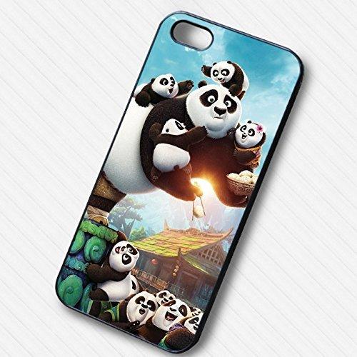 Kung Fu Panda 3 with Fam's pour Coque Iphone 6 et Coque Iphone 6s Case (Noir Boîtier en plastique dur) W8W8XD