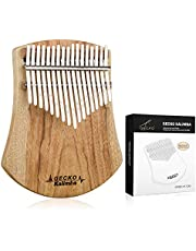 $29 » [Upgrade] GECKO Kalimba Thumb Piano 17 Keys Camphor Wood, Portable Mbira Finger Piano with Hammer, Natural Color, Gift for Adults Children and Beginners
