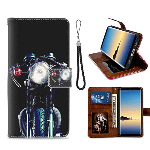 Wallet Leather Card Holder Case Fit for Galaxy S7 Edge Motorcycle Stand Shockproof Bumper Protective Cover PU Leather ()