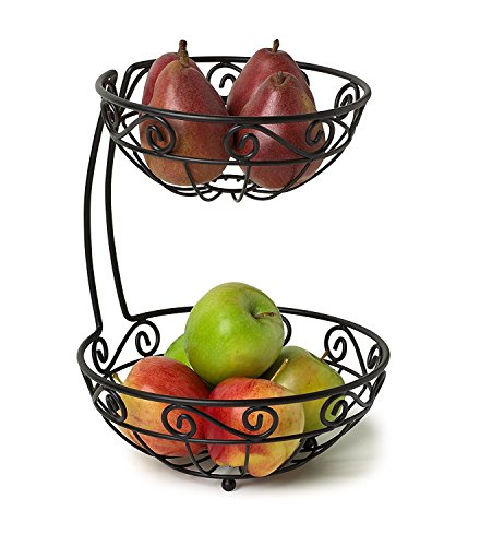 how to stack a three tier fruit wedding cake spectrum diversified scroll fruit stand tiered server 16156