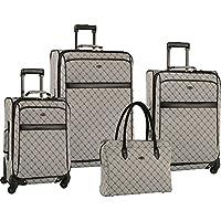 Travel Gear Orion 4-Piece Spinner Luggage Set (Grey/Black)