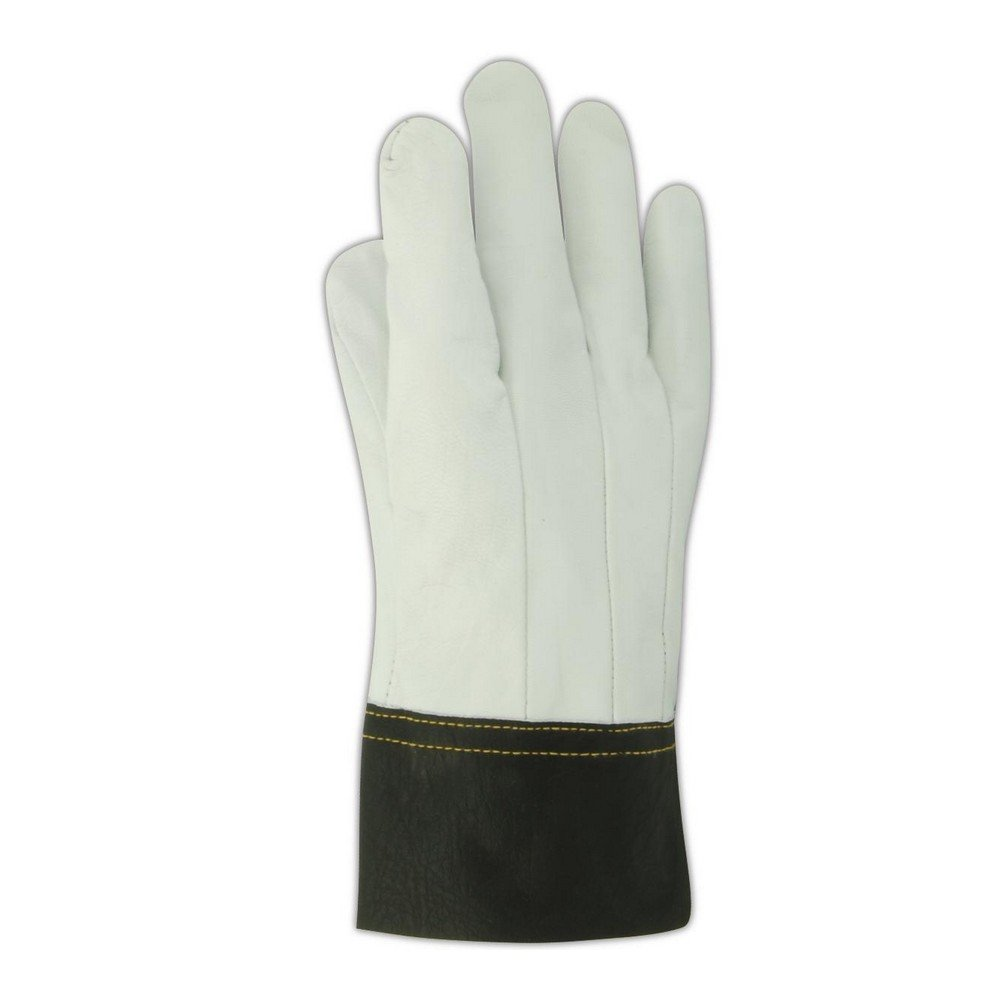 Magid Glove & Safety 1230B-11 Magid DuraMaster 1230B Clute Pattern Full Goatskin Leather Gloves, 10, Gray , 11 (Pack of 12)