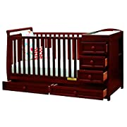 Pemberly Row 2-in-1 Convertible Crib in Cherry