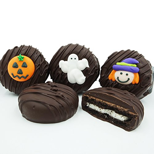 Philadelphia Candies Dark Chocolate Covered OREO Cookies, Halloween Assortment 8 Ounce