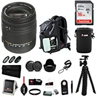 Sigma 18-250mm f3.5-6.3 DC MACRO OS HSM Lens for Canon DSLR Cameras (883101) w/ PREMIUM Photo &Travel Bundle