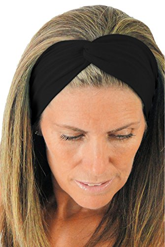 ice cream KNOTTED Twist Yoga Headband: Ultra Comfy, Light-weight & Easy-care