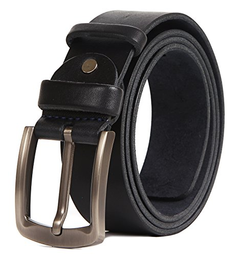 Mens Heavy Duty Reversible Leather/Suede Belt - 100% Thick Cow Leather 1.5