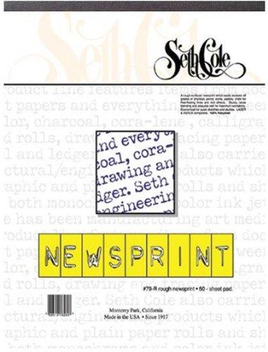 Artist Newsprint Pad 18x24 Inch 50-Sheets by Seth Cole