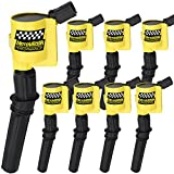 Ignition Coil DG508 for Ford F-150 F150 F-250 F-350 4.6L 5.4L V8 DG508 DG457 DG472 DG491 CROWN VICTORIA EXPEDITION MUSTANG LINCOLN MERCURY(Yellow, 8Pack)