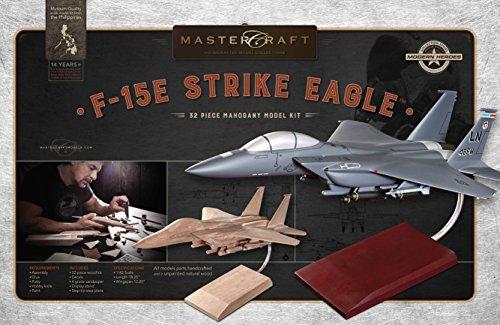 Mastercraft Boeing F-15E Strike Eagle DIY Mahogany Wood Model Kit 1:42 Scale