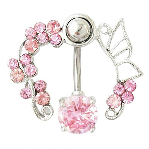 reverse dangle belly button rings - 7