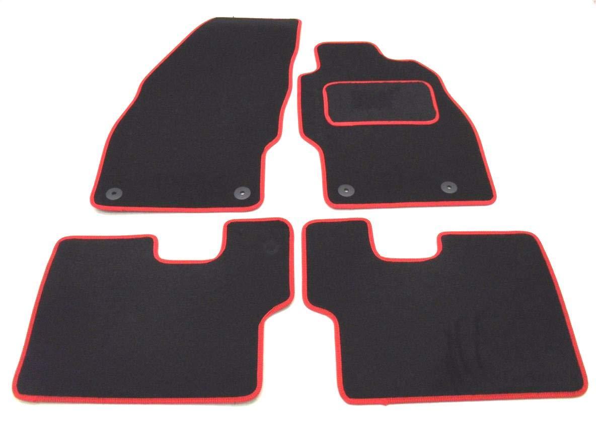 Car Magic 16442536016 Tailored Car Mats Black//Red