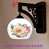 DYBLING Creative European Children'S Lamp Simple Modern Retro Led Chinese Wooden Arts Ceramic Outdoor Indoor Wall Lights Lamp