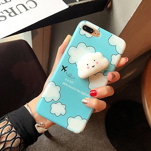 Mobiltelefonhülle - Für iPhone 7 Plus Lovely Cloud Pattern Squeeze Relief Squishy Dropproof Schutzmaßnahmen zurück Fall Fall