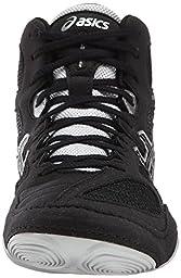 ASICS Men\'s Snapdown Wrestling Shoe, Black/Silver, 10 M US
