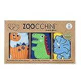 Zoocchini Boys 3 Piece Organic Training Pant Set-Jurassic (2T-3T), Multi