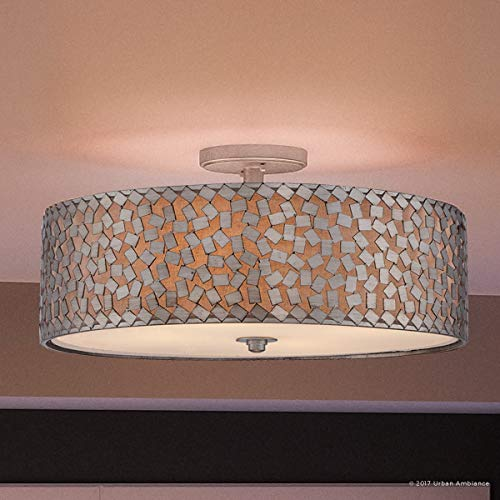 Luxury Modern Semi-Flush Ceiling Light, Large Size: 11.5