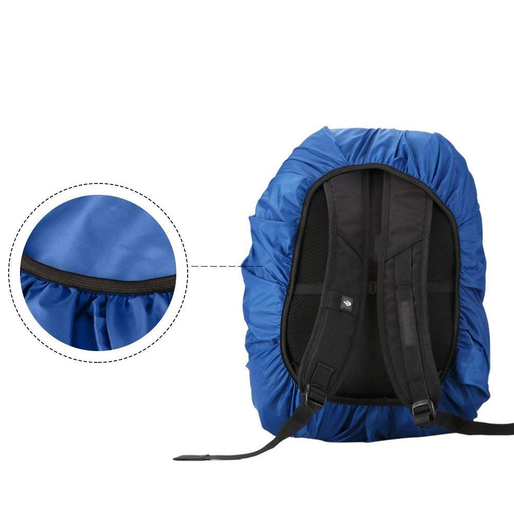 Favson Waterproof Backpack Rain Cover Nylon Rainproof Cover with 1 Storage Bag for Hiking Camping Traveling Outdoor Activities 2-Pack, S:18-25L