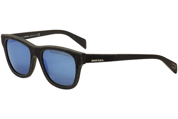 Diesel Unisex-Erwachsene Sonnenbrille DL0111 5492N, Blau, 52