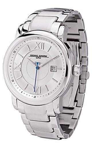 Jorg Gray JG7200-25 - Men's Swiss 3 Hand Watch, Date Display, Sapphire Crystal, Stainless Steel Bracelet