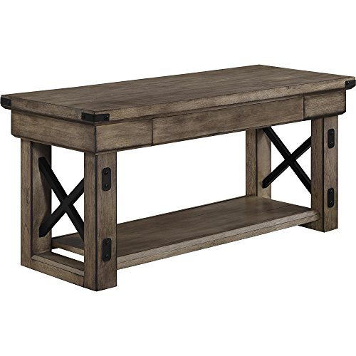 Ameriwood Home Wildwood Wood Veneer Entryway Bench, Rustic ()