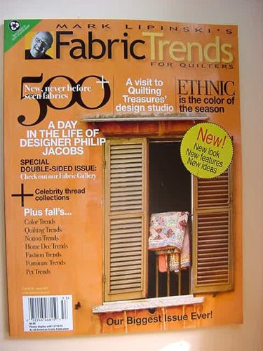 Fabric Trends for Quilter's Magazine Single Issue Fall 2010 (Issue 27) (Collection Furniture Cohen)