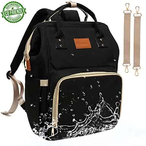 12eed8b0bbb0 Baby Diaper Bag Backpack – Large Diaper Backpack for Mom Dad with Stroller  Straps
