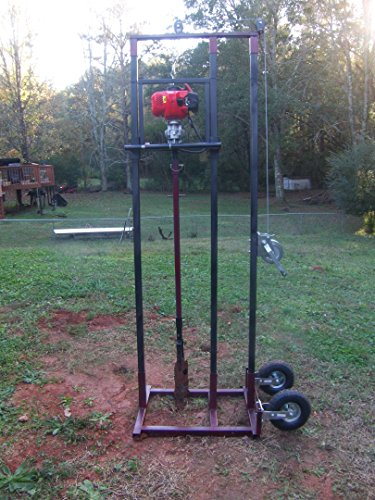 Drilling Rig, Complete Drilling System w/23' of Rods, and Auger Head