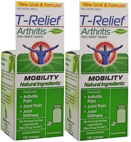 T-Relief Arthritis Tablets, 100 Tablets (100 tab x 2) by - 100 Arthritis Tabs