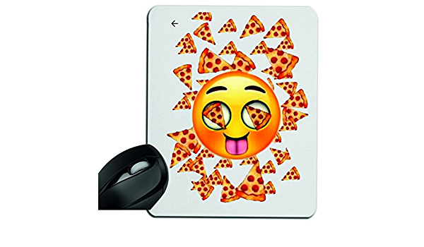 Druckerlebnis24 Alfombrilla de ratón Pizza Emoji-Kissen-1 ...