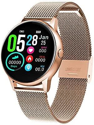 Naack Pulsera Actividad, smartwatch, Reloj Inteligente Impermeable IP67 Pulsómetro Monitor de sueño Deportivo Cronómetro Contador de calorias para ...