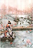 Asian Lady The Fish Pond 1 Art Print POSTER quality 13 x 19in