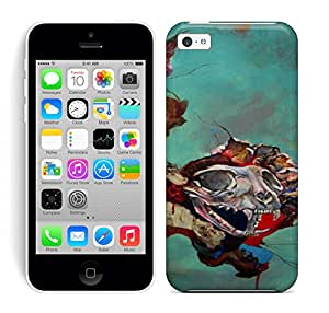 Phone Case Case Cover Protector Specially Made For Iphone 5c Animal-skulls-break-through-from-another-dimension-in-this-abstract-painting-by-Shann-Larsson-643x797