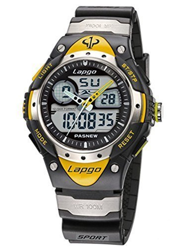 PASNEW Water-proof Dual Time Boys Girls Sport Watch N2 by PASNEW