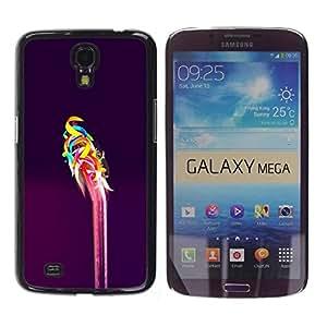 Be Good Phone Accessory // Dura Cáscara cubierta Protectora Caso Carcasa Funda de Protección para Samsung Galaxy Mega 6.3 I9200 SGH-i527 // Pink Purple Vibrant Colors Abstract