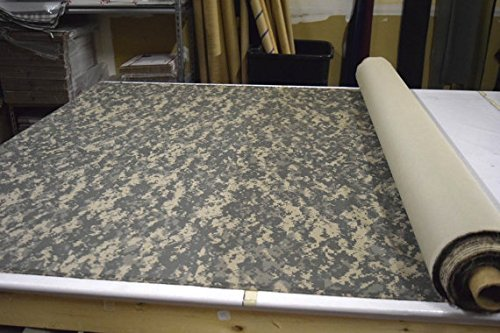 CAMO Camouflage Fabric Military Surplus Twill Original 5 Yard lot (ACU Woodland Desert Nigerian Tiger Digital) 1st Class (ACU Digital)