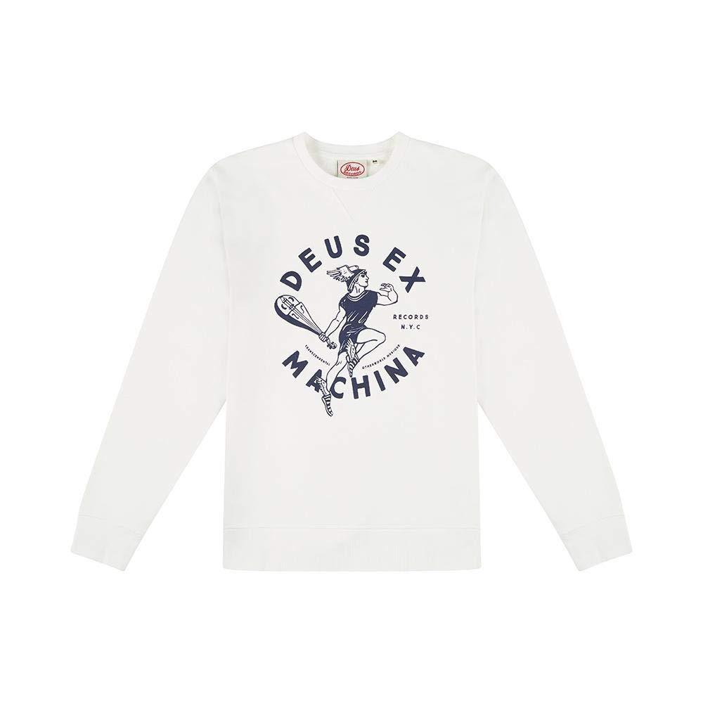 DEUS Sweatshirt Elevate Crew Records NYC vintage Weiß